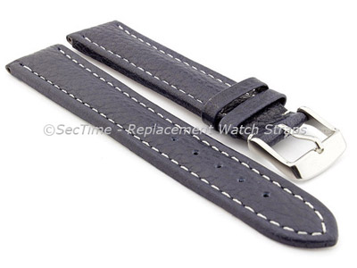 Watch Strap Band Freiburg RM Genuine Leather 20mm Navy Blue/White