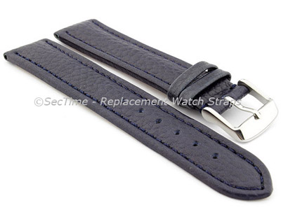 Watch Strap Band Freiburg RM Genuine Leather 22mm Navy Blue/Blue