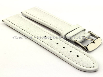 Watch Strap Band Freiburg RM Genuine Leather 28mm White/White