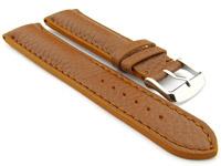 Padded Watch Strap Genuine Leather FREIBURG VIP Brown/Brown 20mm