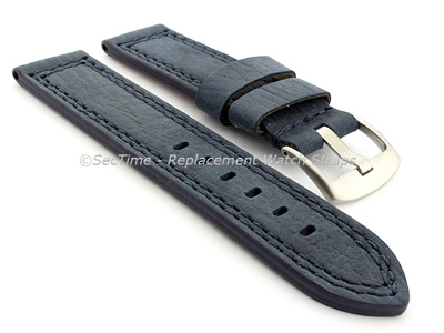 Waterproof Leather Watch Strap Galaxy Blue 24mm