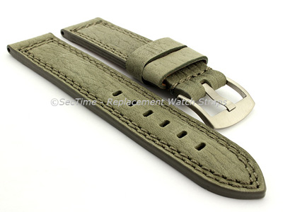 Waterproof Leather Watch Strap Galaxy Grey 22mm