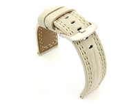 Waterproof Leather Watch Strap Galaxy Cream 22mm
