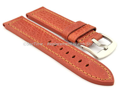Replacement WATCH STRAP Luminor Genuine Leather Brown/Brown 20mm