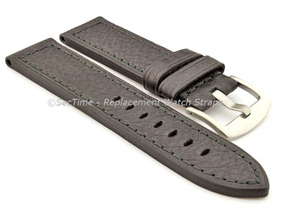 Replacement WATCH STRAP Luminor Genuine Leather Black/Black 22mm