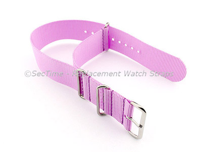 NATO G10 Watch Strap Military Nylon Divers (3 rings) Lilac 24mm