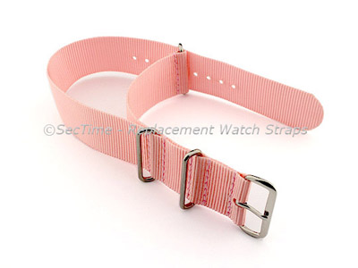 NATO G10 Watch Strap Military Nylon Divers (3 rings) Salmon 24mm