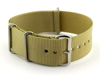 NATO G10 Watch Strap Military Nylon Divers (3 rings) Light Green 18mm