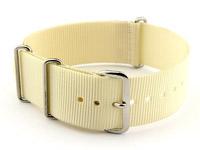 NATO G10 Watch Strap Military Nylon Divers (3 rings) Cream 22mm