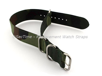 NATO G10 Watch Strap Military Nylon Divers (3 rings) Camouflage 22mm