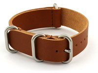 22mm Brown (Tan) - Genuine Leather Watch Strap / Band NATO VINTAGE, Military