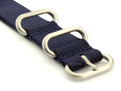 NATO Nylon Watch Strap Strong Heavy Duty (4/5 rings) Military Navy Blue 26mm