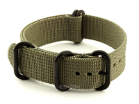 18mm Grey - Nato Nylon Watch Strap / Band Strong Heavy Duty (4/5 rings) PVD