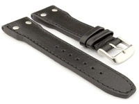 Genuine Leather Watch Strap PILOT fits IWC Black 20mm