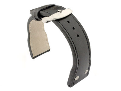 Genuine Leather Watch Strap PILOT fits IWC Black 24mm