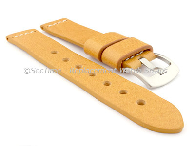 Genuine Leather Watch Strap RIVIERA RM Desert Sand/White 18mm