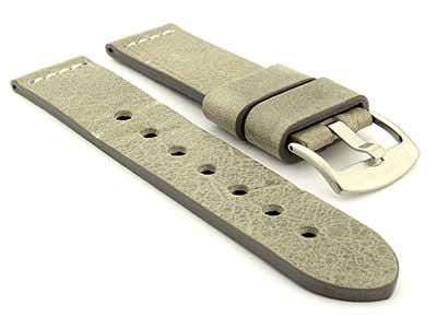 Genuine Leather Watch Strap RIVIERA RM Grey/White 20mm