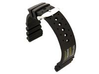 Silicon Watch Strap PRO Waterproof N.D.LIMITS Black 24mm