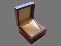 Wooden Watch Box for 1 wristwatch with the velour cushion