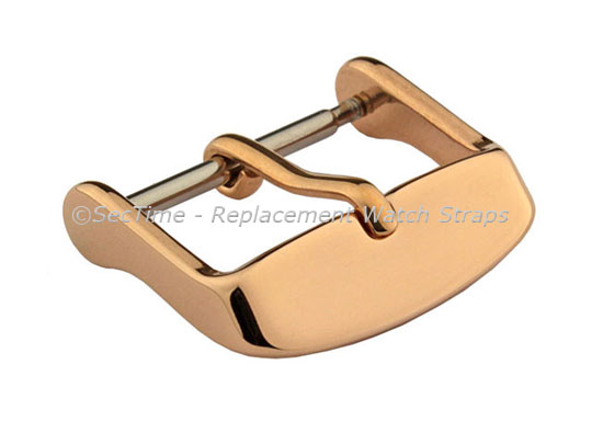 Polished Rose Gold-Coloured Stainless Steel Standard Watch Strap Buckle 20mm