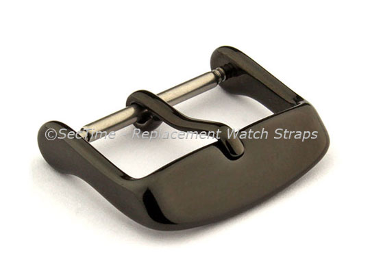 Polished Black (PVD) Stainless Steel Standard Watch Strap Buckle 20mm