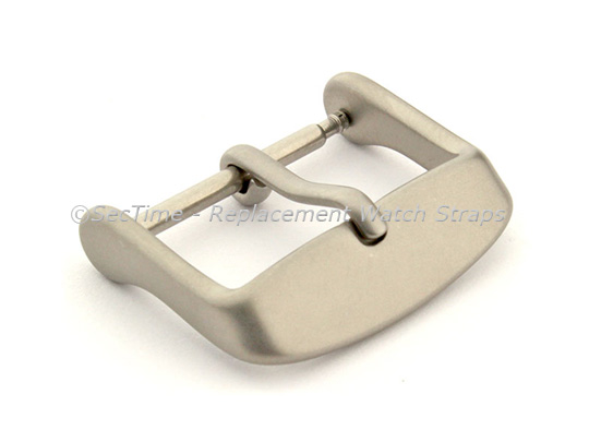Matte Grey Stainless Steel Standard Watch Strap Buckle 18mm