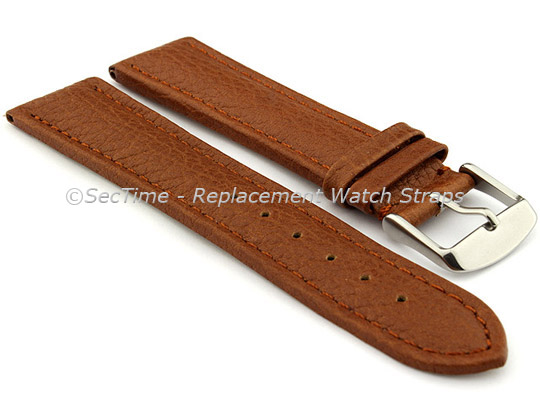 Watch Strap Band Freiburg RM Genuine Leather 28mm Brown/Brown