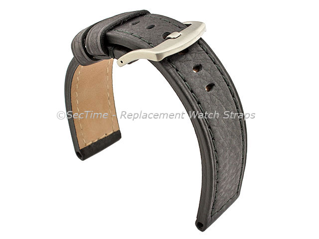 Replacement WATCH STRAP Luminor Genuine Leather Black/Black 26mm