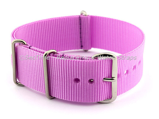 NATO G10 Watch Strap Military Nylon Divers (3 rings) Lilac 18mm