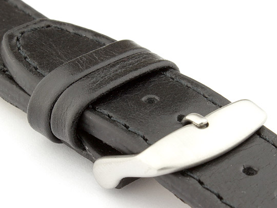Genuine Leather Watch Strap PILOT fits IWC Black 24mm