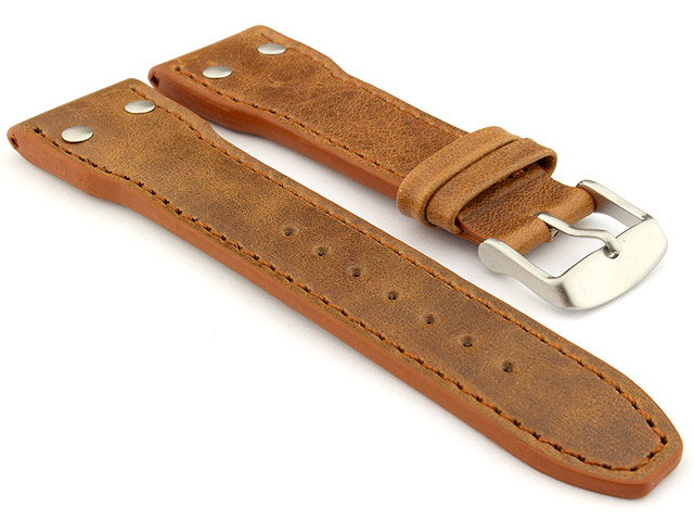 Genuine Leather Watch Strap PILOT fits IWC Brown 22mm