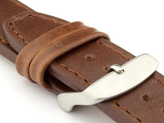 Genuine Leather Watch Strap PILOT fits IWC Dark Brown 22mm
